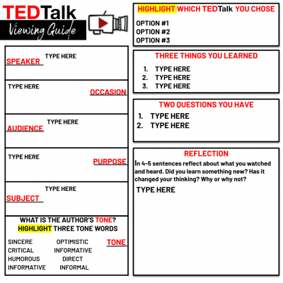 Ted Talk Guide Template