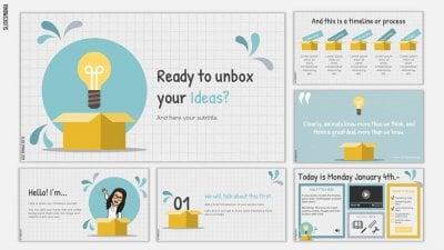Unbox- SlidesMania template