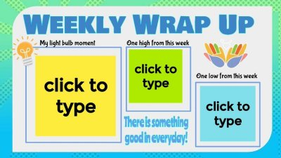 Weekly Wrap Up Jamboard Template