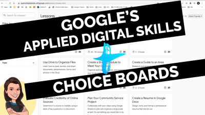 Google applied digital skills choice boards