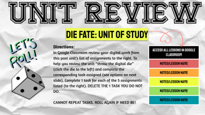 Unit Review Die Fate Template