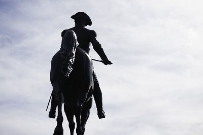 Paul Revere riding a Horse
