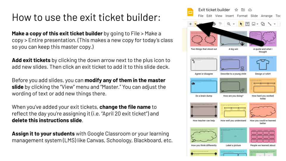 How to Use the Exit Ticket Builder