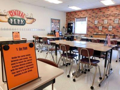 Classroom desks and chars